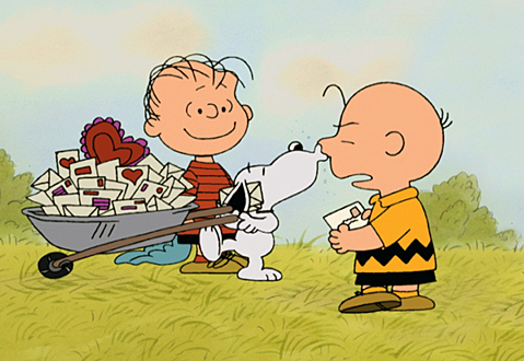 """A CHARLIE BROWN VALENTINE - Produced and animated by the same team that gave us the classic """"PEANUTS"""" holiday specials and taken directly from the late cartoonist Charles M. Schulz's famed comic strip, """"A Charlie Brown Valentine"""" will air Saturday, February 10 (8:00-8:30 p.m., ET), on the ABC Television Network.  (©2002 United Feature Syndicate Inc.)"""