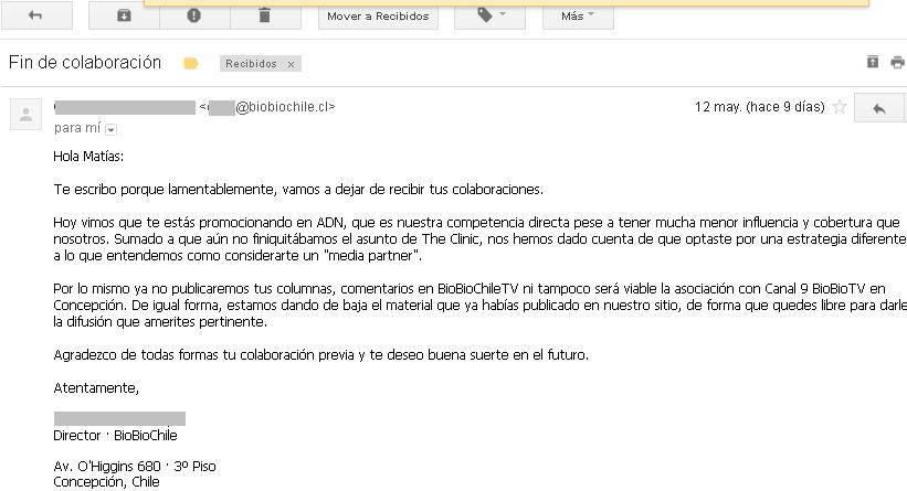 Segundo correo