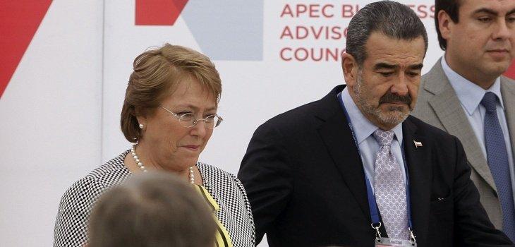 Presidenta Bachelet y Androniko Luksic